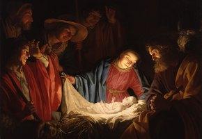 Владельцы салона красоты для собак воссоздали сцену Рождества. Как вам малыш Иисус?