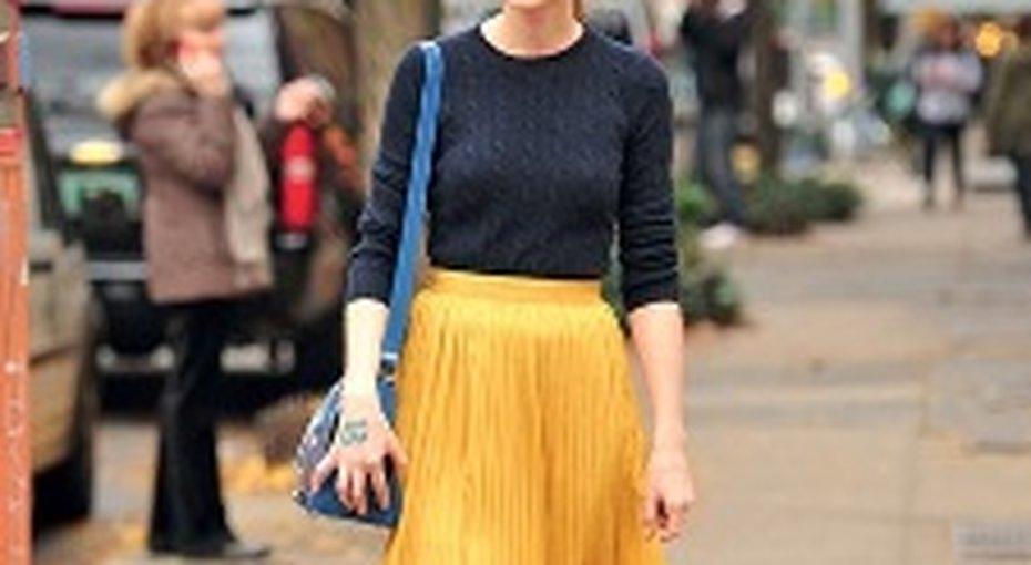 Звездный стиль: юбка плиссе