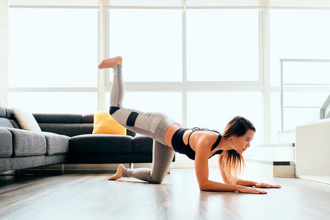 5 простых упражнений длядомашней тренировки итабличка сграфиком выполнения
