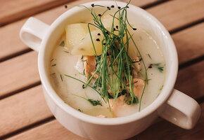 Финские рецепты: шашлык из лосося с йогуртовым соусом и сливочный суп