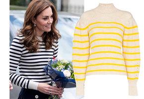 Вдохновляемся герцогиней: самые модные и недорогие свитера-тельняшки