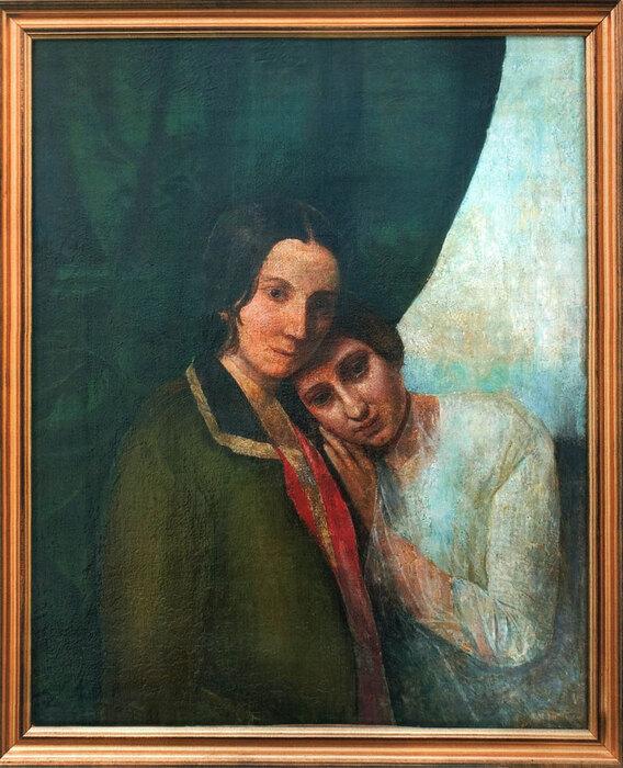 «Две Елены (Елена Ган иЕлена Блаватская)». 1844—1845. Поодной изверсий, картина была написана Е. П. Блаватской