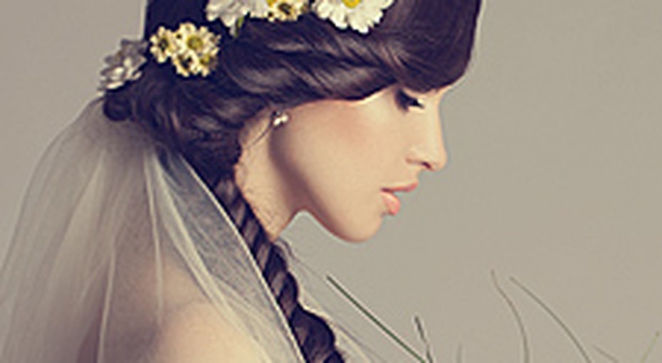 Свадебные прически 2014