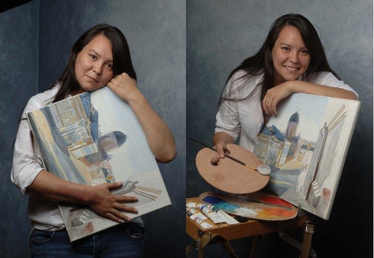 Сания Испергенова, художник, писатель