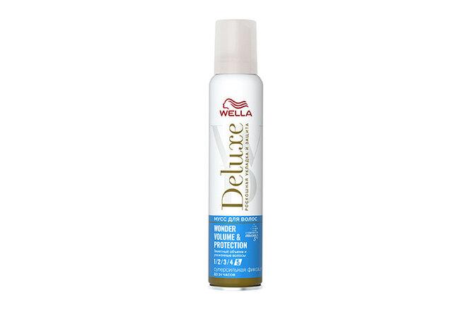 Мусс для волос Deluxe Wonder Volume & Protection, Wella