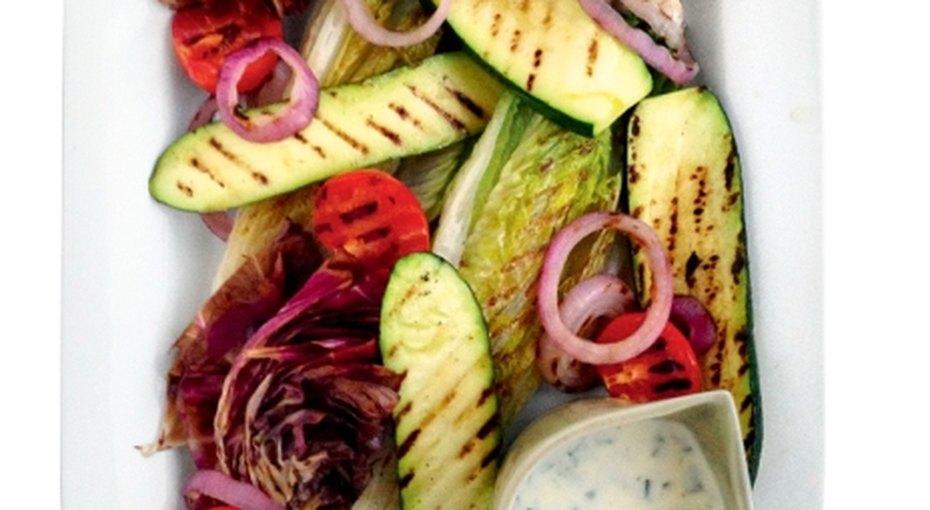 Готовим овощи науглях