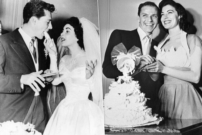 Счастливей всех! Забытые фото со свадеб Тэйлор, Синатры, Рейгана идругих звезд