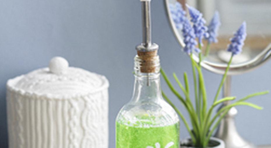 Мыло вкрасивой бутылке