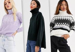 Под горлышко! Самые модные свитеры с высоким воротником на холодную осень