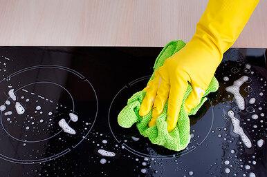 Как очистить индукционную панель отпятен тремя разными способами