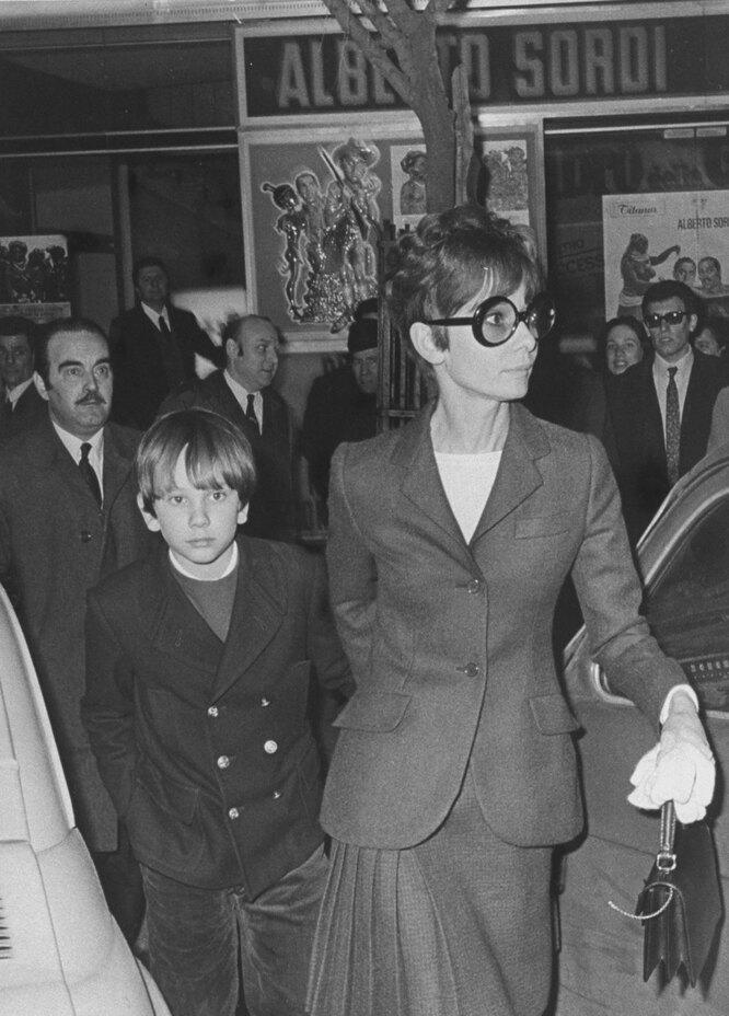 Одри Хепберн с сыном Шоном,