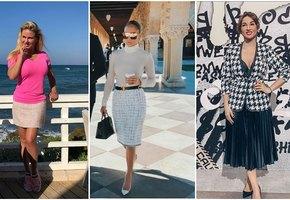 5 звёзд с пышными формами, которые умеют носить юбки