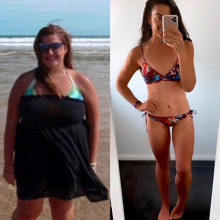 Девушка похудела за год