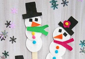 Снеговик, ангел и другие прикольные украшения из ватных дисков
