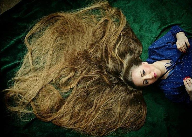 рапунцель вжизни, длинные волосы рекорд