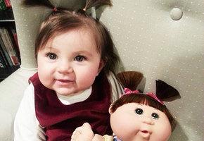 15 детей, поразительно похожих на собственных кукол