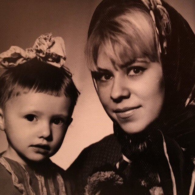 Елена Воробей с мамой