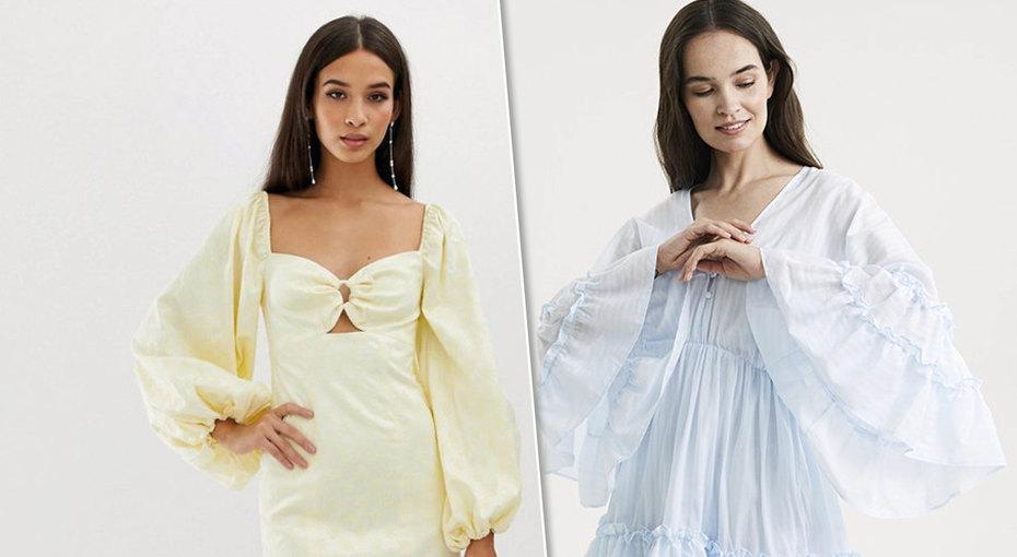 Обязательный летний тренд: выбираем платье собъемными рукавами