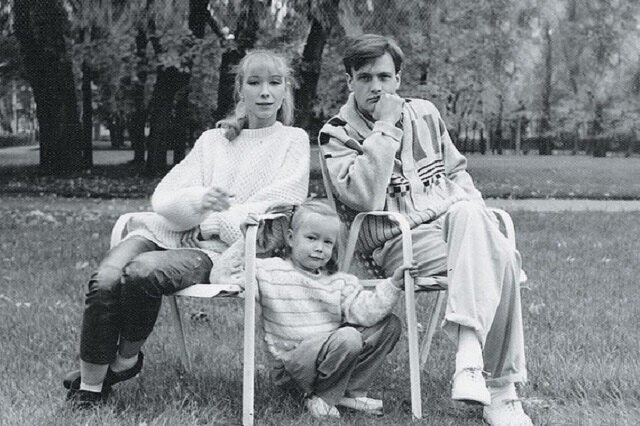Дарья Мороз с мамой и отцом