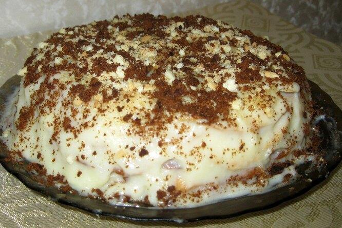 Домашний торт «Наполеон» с заварным кремом