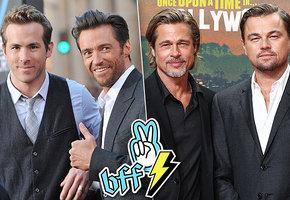 Крепко, по-мужски: кто из голливудских звезд — лучшие друзья