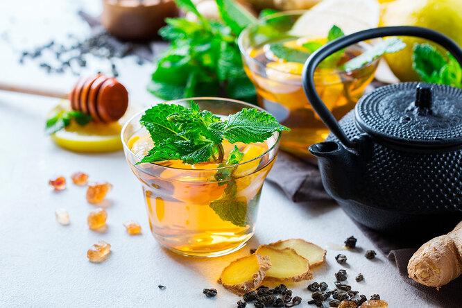 Мятно-имбирный чай