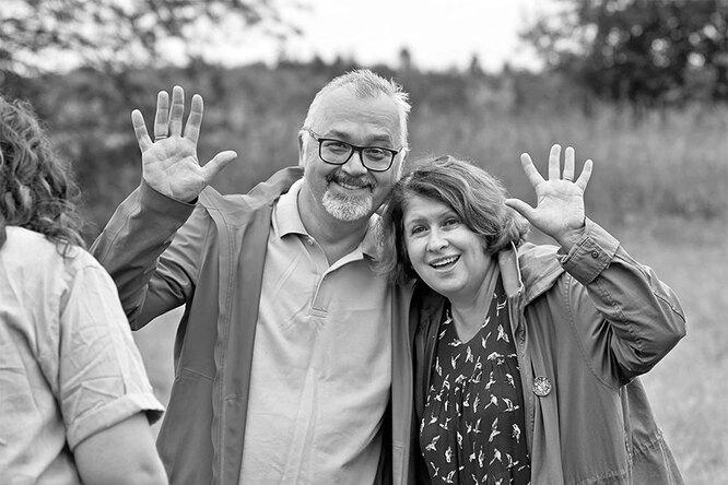Елена Качаева с мужем