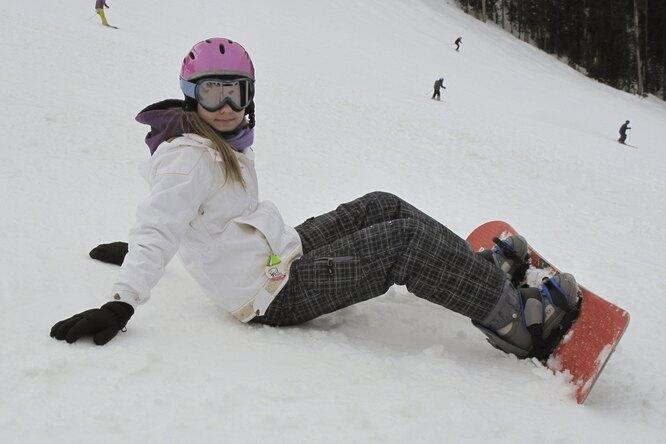 Научите ребенка кататься насноуборде