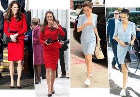 Одна вещь — разные образы: Кейт Миддлтон и другие модницы, которые не стесняются ходить в одном и том же