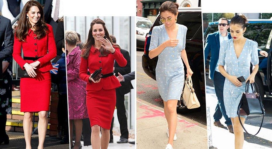 Одна вещь — разные образы: Кейт Миддлтон идругие модницы, которые нестесняются ходить водном итом же