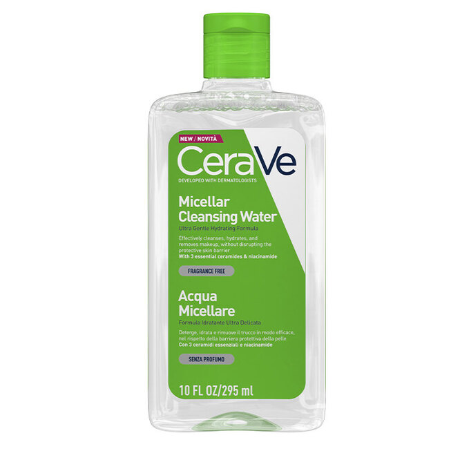 Увлажняющая мицеллярная вода c церамидами и Ниацинамидом, CeraVe