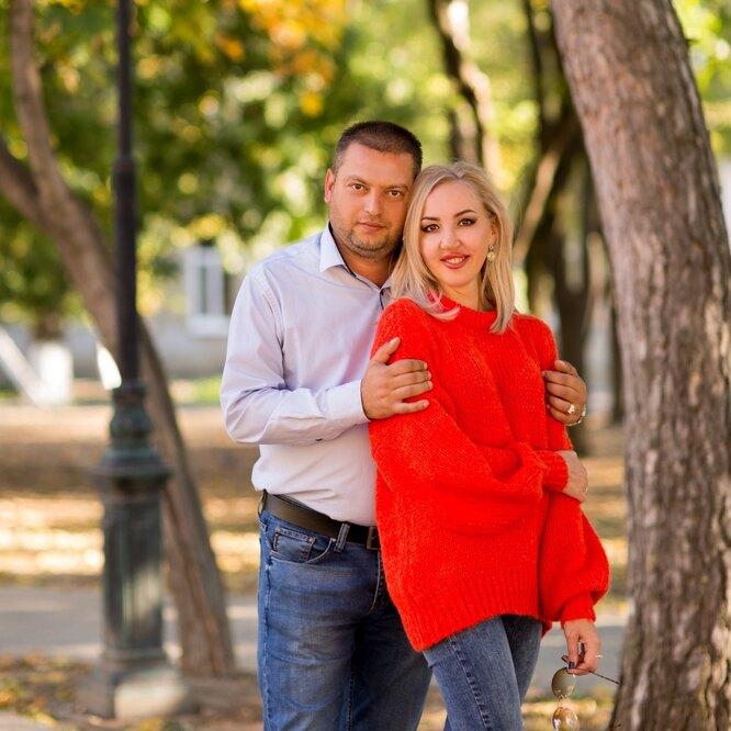 Елена Соколова с мужем