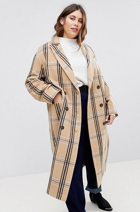 Пальто ASOS CURVE, 5090 рублей