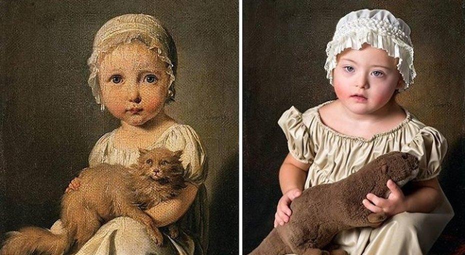 Дети ссиндромом Дауна перевоплотились вгероев классической живописи
