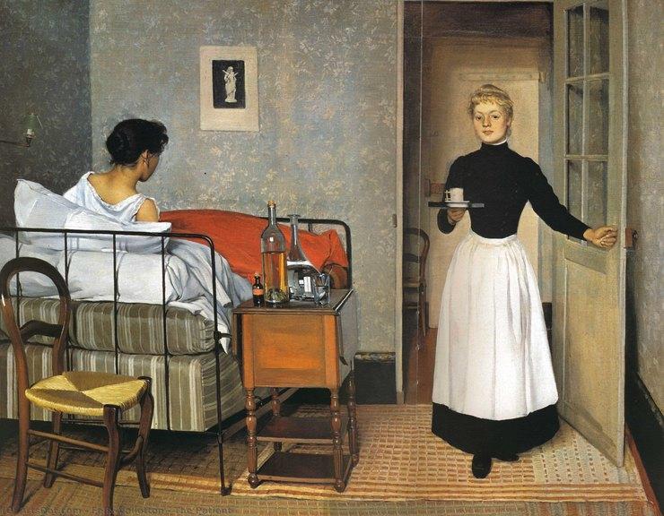 Феликс Валлоттон, «Больная девушка», 1893