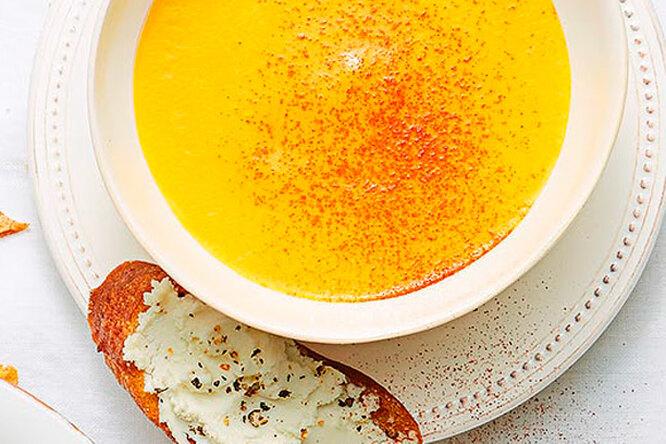 Холодный суп-пюре из тыквы