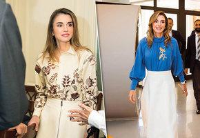Как носить юбку с блузкой: интересные идеи от королевы Рании