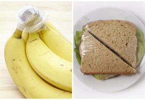 6 полезных применений пищевой пленки у вас на кухне