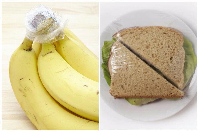 6 полезных применений пищевой пленки увас накухне