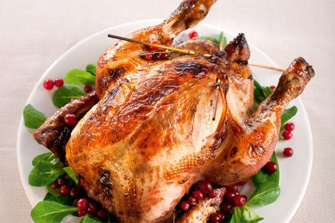 Курица в клюквенном соусе