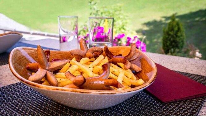 сосиски с картошкой