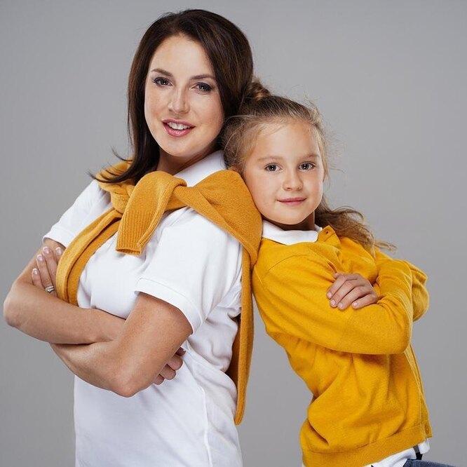 Ирина Слуцкая с дочерью Варварой