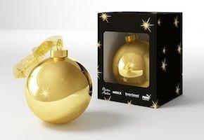 Золотой шар в подарок за покупку аромата