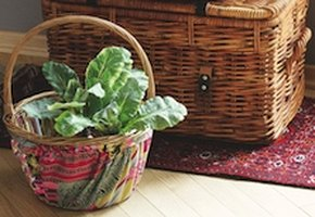 Корзины с текстильной отделкой