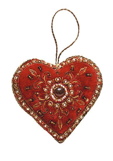 Елочная игрушка «Сердце», Yves Delorme