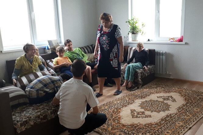 Лариса Молнар в кругу семьи