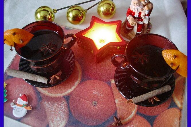 Новогодний глинтвейн с корицей