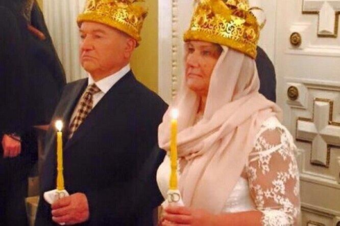 Юрий Лужков иЕлена Батурина обвенчались после 25 лет брака