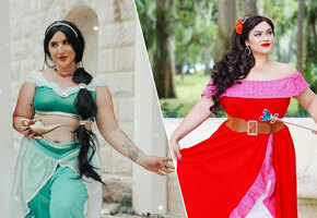 Они могли быть такими: модели pluz size примерили образы диснеевских принцесс