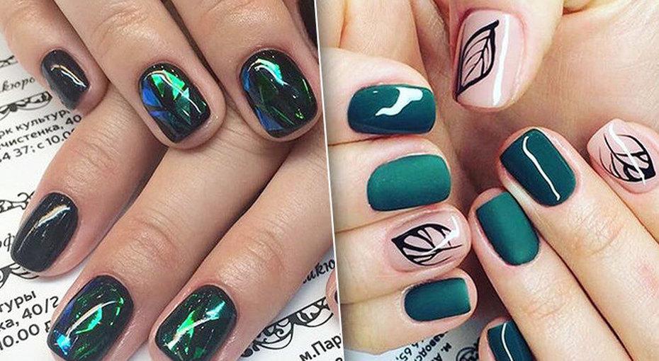 Яркие икрутые идеи маникюра длякоротких ногтей